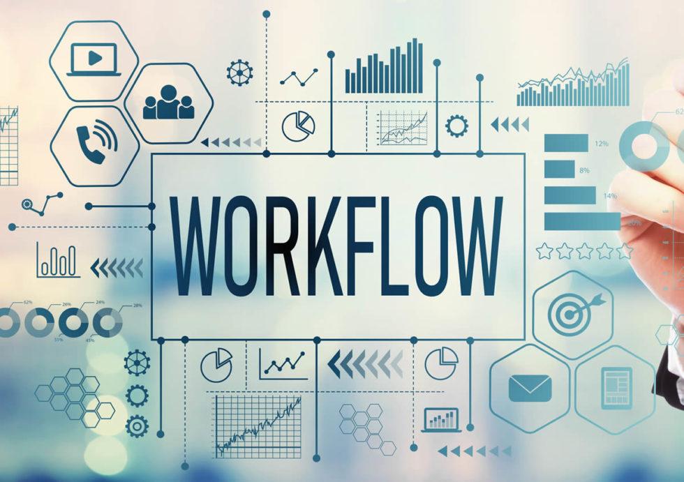 Workflow with businessman